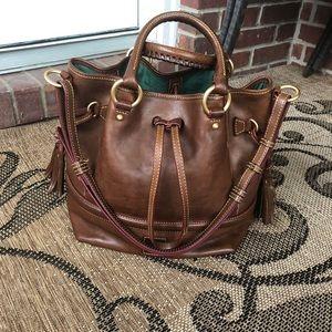 Dooney and Bourke Florentine Chestnut Brown Bag